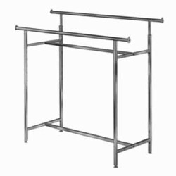 Adjustable Double Heavy Duty H Clothing Rack