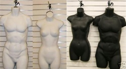 Male & Female Mannequin Dress Form Set